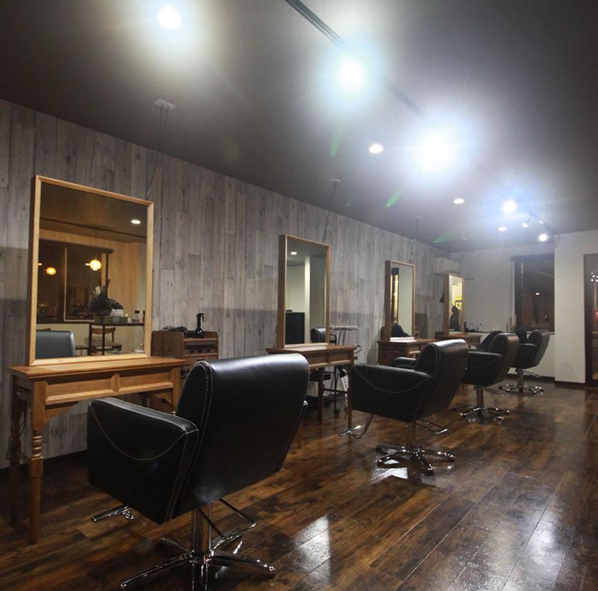 帯広市近郊、音更町にある美容室 TSUGI -ツギ-の内観イメージ